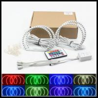SMD RGB LED angel eyes halo rings kits for BMW E46 NON- projector 131mm 146mm Car LED DRL angel eyes kit Manufactures