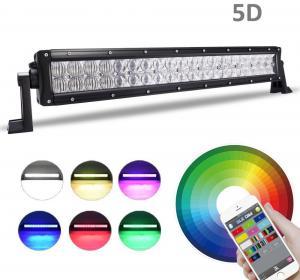 5D RGB LED LIGHTS  3W CREE Led Straight led light bar 22-52 120W-300W Manufactures