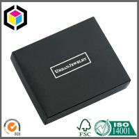 Silver Foil Print Logo Matte Black Chipboard Paper Gift Jewelry Box Manufactures