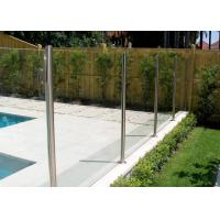Mirror Balcony Stainless Steel Glass Balustrade , Residential Glass Railing Systems Manufactures