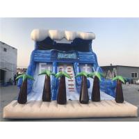 0.55mm PVC Tarpaulin Inflatable Dry Slides , 11 Meter Jumping Inflatable Slide Manufactures