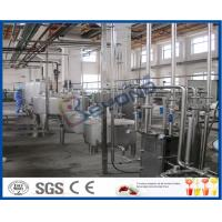 UHT Sterilizer Dairy Processing Plant , Yogurt Processing Machine With CIP System Manufactures