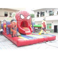 PVC Tarpaulin Spider Man Inflatable Amusement Park With 8m * 5m * 4m Manufactures