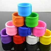 Printed color silicone bracelets slap wristband for children Manufactures