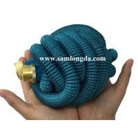 2017 Expandable Garden hose,50FT strongest garden hose with brass quick coupling, green color expanding water hose Manufactures