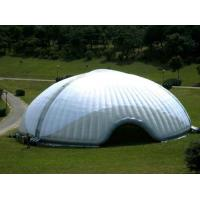 Semicircle White PVC Tarpaulin Inflatable Party Tent For Family Outdoor Manufactures