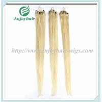 """Micro ring loop hair extensions 16""""-26""""L brazilian remy hair 613# color hair Manufactures"""
