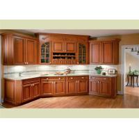 Beautiful Solid Wood Kitchen Cabinets Customized Classic Design From Foshan Manufactures