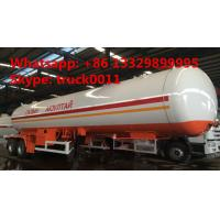 factory price 17tons Double axles lpg road tanker trailer, best price 40.5m3 road transported lpg gas tank for sale Manufactures