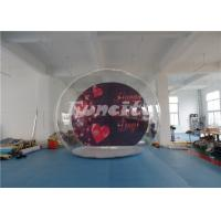PVC Tarpaulin Inflatable Bubble Show Ball Tent For Valentine's day / Christmas Manufactures
