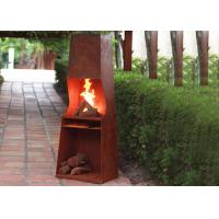 Weather Resistant Corten Steel Fire Pit Rustproof OEM / ODM Available Manufactures
