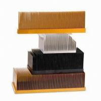 T4 , T5 Clear Smooth Aluminum Heatsink Extrusion Profiles With Wood Chromizing / Chromising Manufactures