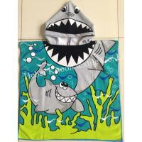 Buy cheap 60*120cm 100% polyester hooded baby bath towel,poncho for babies,shark  for boys from wholesalers
