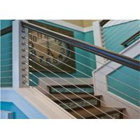 Construction Material Rod Balustrade Stainless Steel Wire Rope Balustrade Durable For Decks Manufactures