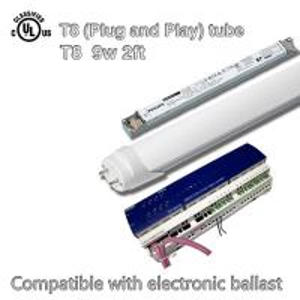 China High Lumen 1080lm T8 Led Fluorescent Tube Light 9W , DLC / TUV Certified on sale