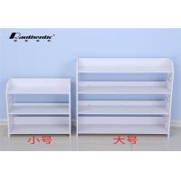 White Simple Wood Shoe Storage Cabinet Shoe Dust Type Convenient Install Manufactures