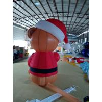 Quality Eight Feet Stitching Oxford Custom Inflatable Products Inflatable Brown Bear for sale