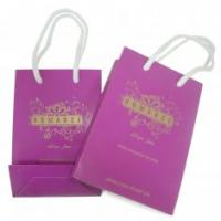 Quality Custom promotional Pink Paper retail Carrier Bag Printing packaging Personalised for sale