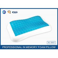 Contour memory foam cooling gel pillow in Summer for relieving neck fatigue Manufactures