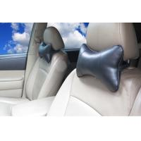 Hot sell leather material black car use god quality car neck pillow Manufactures