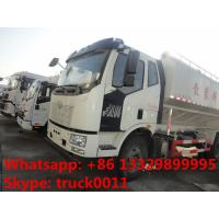 China leading brand FAW brand LHD 4*2 electronic system discharging animal feed delivery truck for sale Manufactures