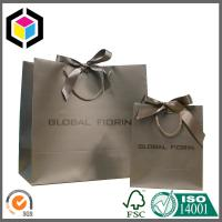 Matte Colored Striped Handle Euro Totes Paper Bag; Custom Paper Bag Manufactures