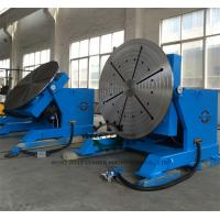 2 Ton Tube Table Top Welding Positioners , Tiltable Rotary Table For Welding Manufactures