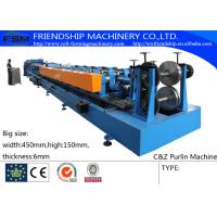Professional CZ Purlin Roll Former Machine Hydraulic 30KW High Frequency Manufactures