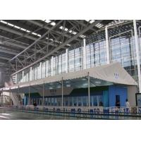 Double Coated PVC Fabric White Canopy Tent Waterproof 100km/H For Canton Fair Manufactures