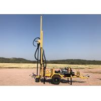 Trailer Mounted Mobile Water Well Drilling Rig , Hydraulic Borehole Drilling Machine Manufactures