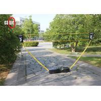 Outdoor Leisure Folding Badminton Set With Freestanding Base Portable Lightweight Manufactures