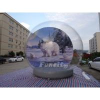 Christmas Outdoor Decoration 5M Giant Inflatable Human Snow Globe Manufactures