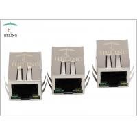 EMI Tab Spring PoE Plus Integrated Magnetics RJ45 Jack Connector With LED Manufactures