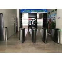 Optical Subway Turnstile Barrier / Flap Barrier And Speed Pedestrian Gate Access Control Manufactures