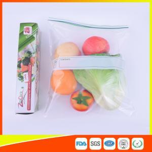 Custom Freezer Zip Lock Bags Anti Moisture , Resealable Zipper Food Storage Bags Manufactures