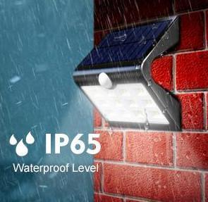 Quality Energy Saving Solar Powered Outdoor Motion Sensor LED Light IP65 Waterproof for sale