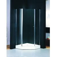 Diamond Frosted Glass Shower Enclosure Frameless , Shower Quadrant Enclosures With Lifting Rotated Profile Manufactures