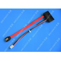 SATA (7+15) 22Pin Male To 7Pin Male Plus 4PIN Molex Data and Power Combo Extension Cable Manufactures