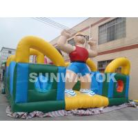 Rent Funny Hercules Inflatable Fun City For Outside Kids blow upplayground Manufactures