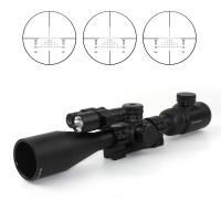Tactical Accessories 1/4 MOA Click Rifle Scope With Red Laser And Flashlight Hunting Riflescope Manufactures