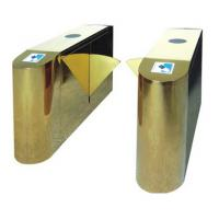 Luxury Gold Flap Gate Turnstile Barrier Security Access Control Highend Star Hotel Offices Manufactures