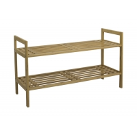 BSCI 10KG Bamboo Shoe Shelf For 8 Pairs Of Shoes Manufactures