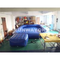 OEM Double Stitching Air Tight Inflatable Swimming Pools With Platform Summer Manufactures