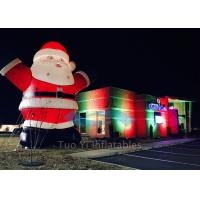 Giant Inflatable Cartoon Characters / Inflatable Santa Claus for Christmas Promotion