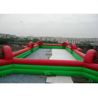 Commercial Inflatable Football Game / Soccer Field Sports Equipment With 0.45mm - 0.55mm PVC Manufactures