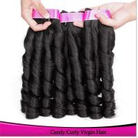 New Arrival Smooth and Silky Top quality 100% Natural Virgin Brazilian Spring Curl Hair Weave Manufactures