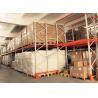 Push Back Rack / Oranger Pushback Racking Maintenance Free With Pallet Carts Carriages Manufactures