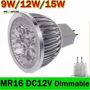 1x Dimmalbe GU5.3 MR16 9W 12W 15W LED Light GU 5.3 LED bulb lamp 12V LED COB Spot down led light spotlight Manufactures