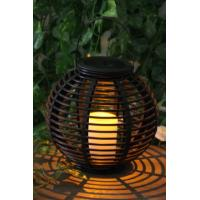 Rattan Solar Garden Lights Solar panel 2V / 40MA Feature Decorating and lighting Material Plastic Support OEM/ODM china Manufactures
