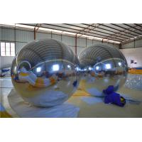 Siliver Customized Diameter Inflatable Mirror Ball For LongDung Olympics Sports Metting Manufactures